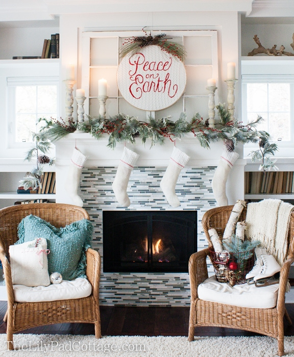 Decorating A Mantel For Christmas christmas mantel decor - the lilypad cottage