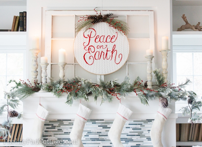 christmas mantel decor - Pictures Of Mantels Decorated For Christmas