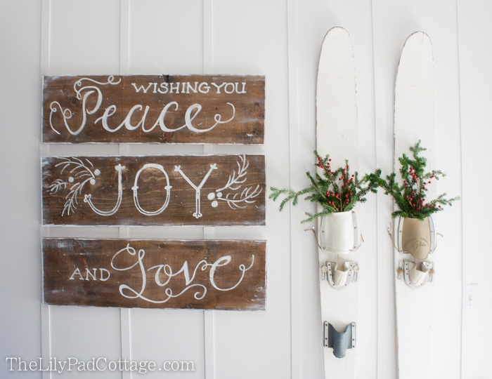 christmas sign the lily pad cottage - Christmas Decor Signs