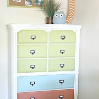 Colorful Dresser Redo