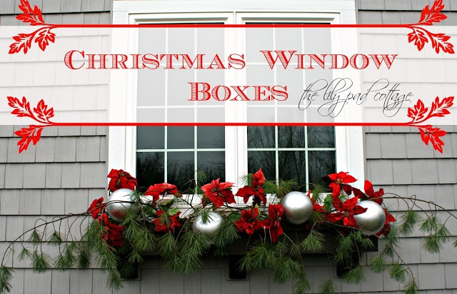 christmas window boxes the lilypad cottage