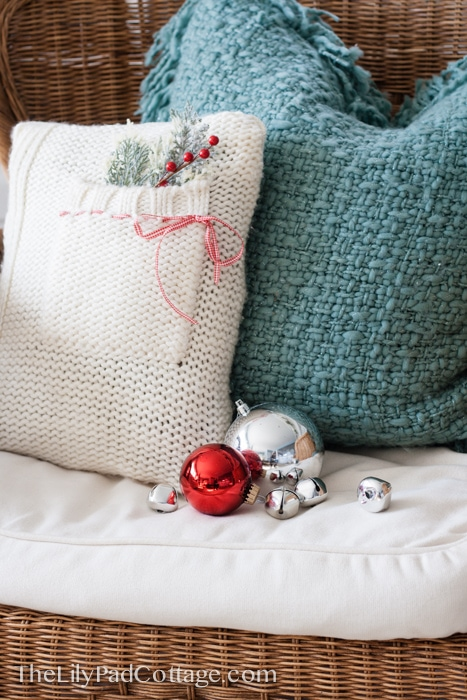 Easy Christmas craft - make your own sweater pillow