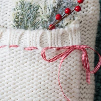 Holiday Sweater Pillow DIY