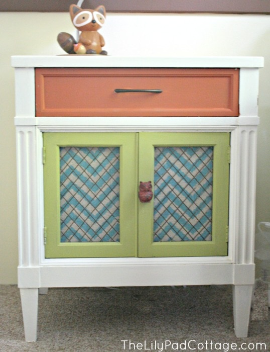 Colorful painted nightstand