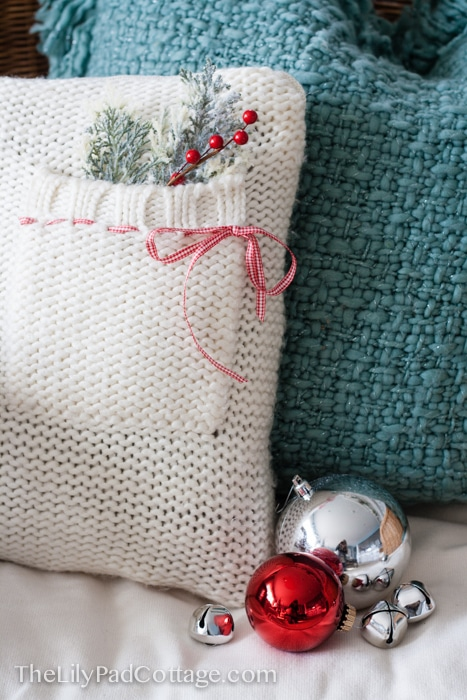 How to make a sweater pillow