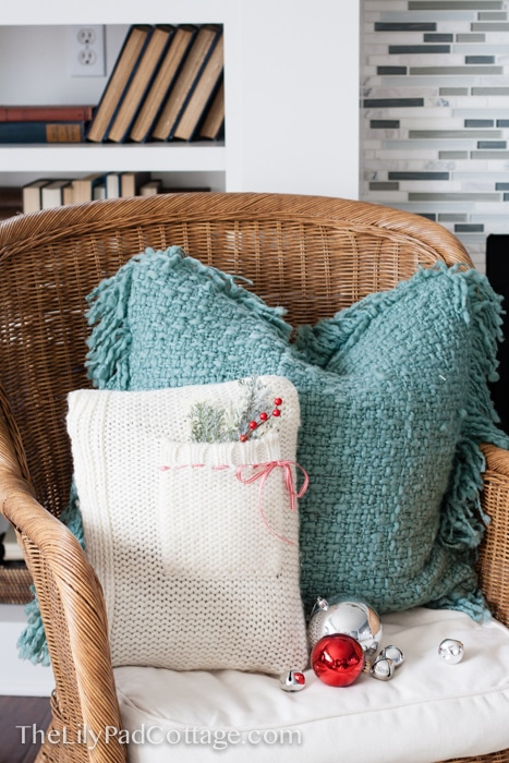 Make your own sweater pillow