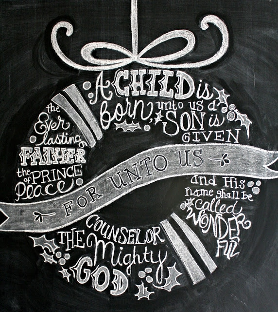Christmas Chalkboard - the lily pad cottage