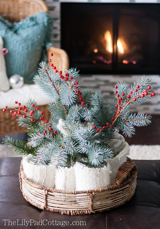 Sweater wrapped centerpiece