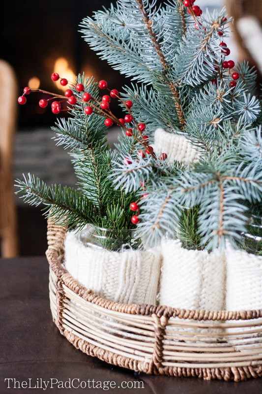 Sweater Evergreen Centerpiece