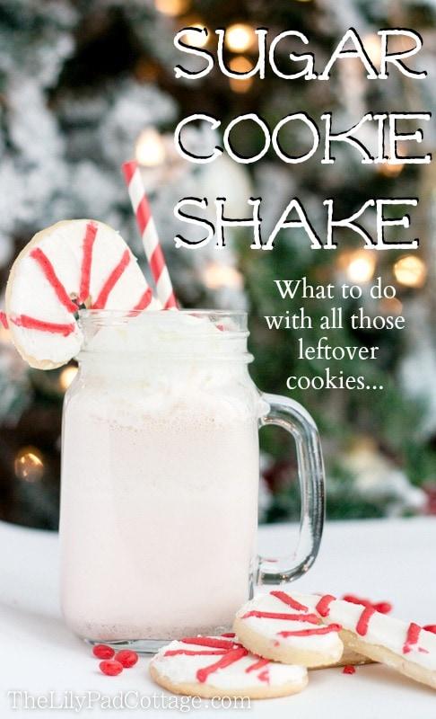 3 ingredient sugar cookie shake