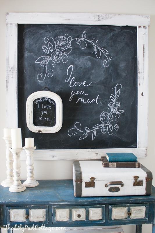 Valentine Chalkboard Art