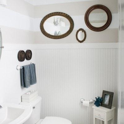Coastal Bathroom – I love me some stripes!