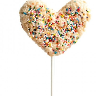 Valentine Treats – Rice Krispy Pops