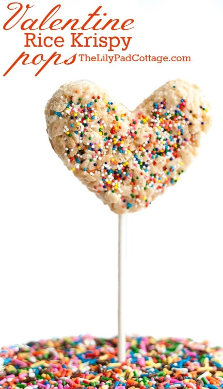 Valentine Rice Krispy Pops