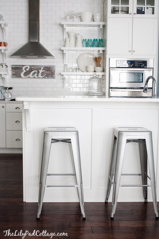White kitchen metal bar stools & New Barstools and a Big Announcement! - The Lilypad Cottage islam-shia.org