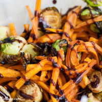 Sweet Potato Brussel Sprou Fries