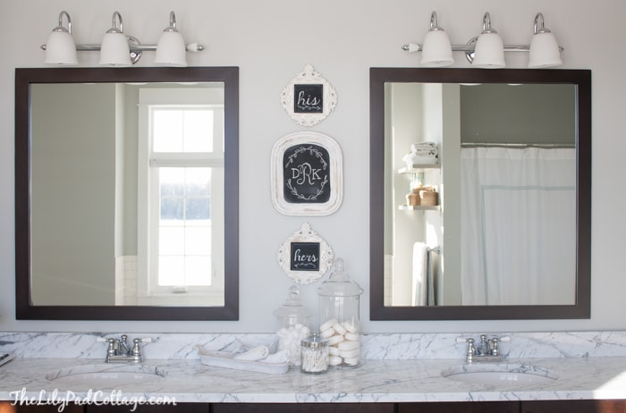 Bathroom Monogram Wall Art