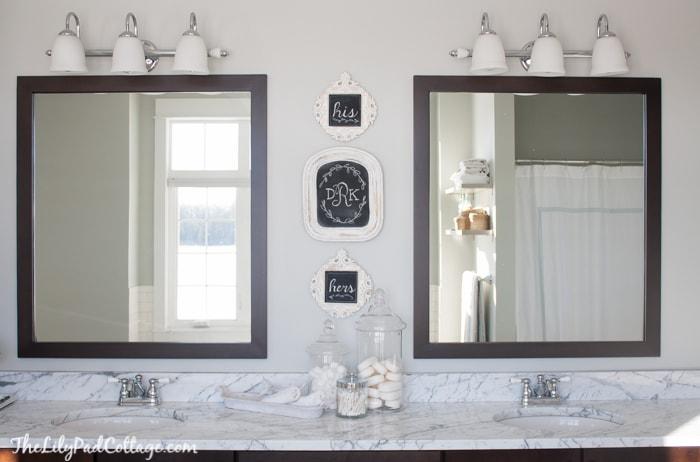 Bathroom Monogram Wall Art