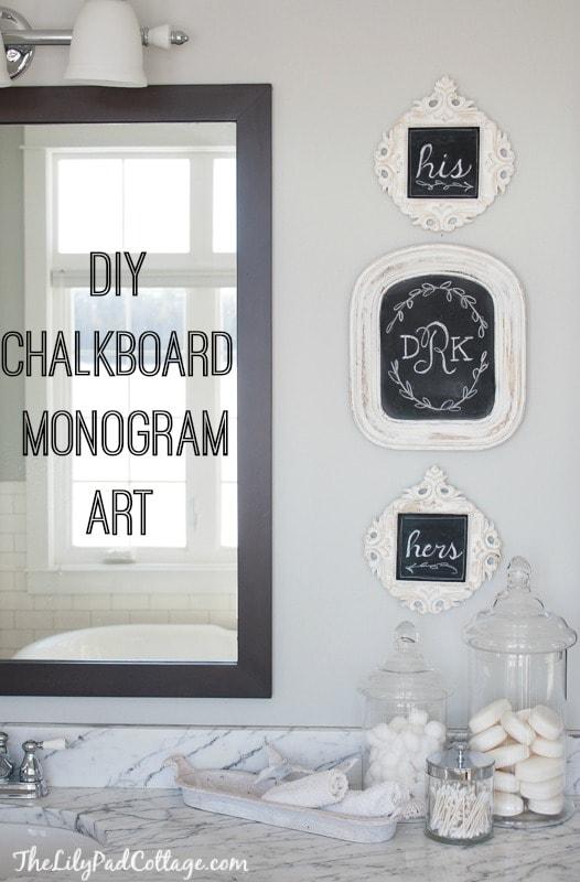 Monogram Chalkboard Wall Art