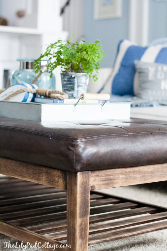 coffee table style - living room sneak peek - the lilypad cottage