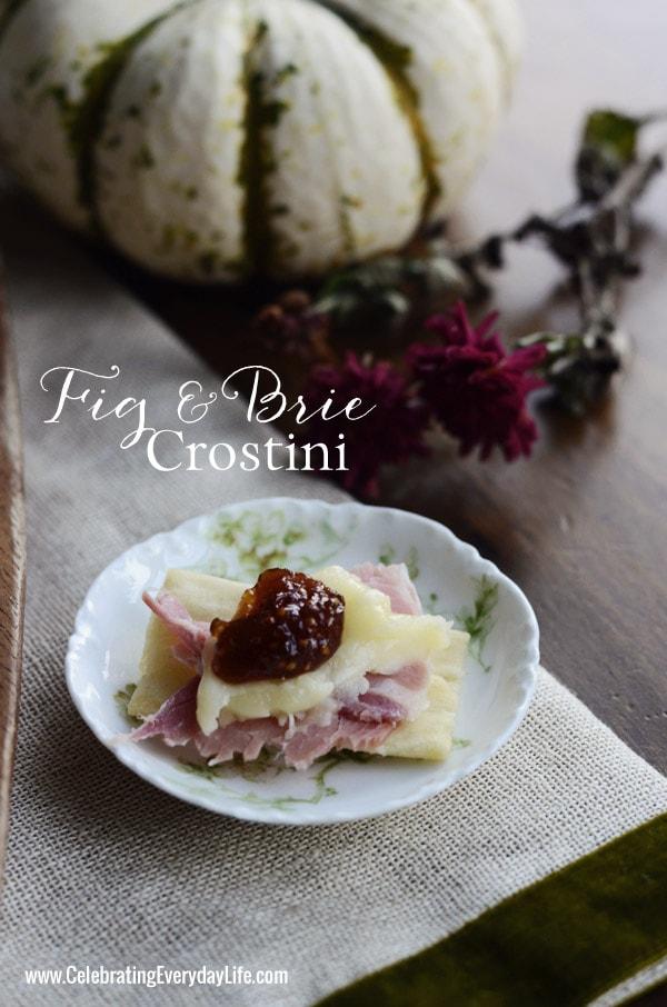 Fig Brie Crostini