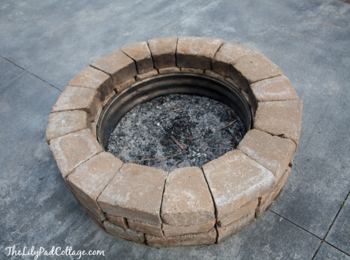 Diy Fire Pit Table Top The Lilypad Cottage