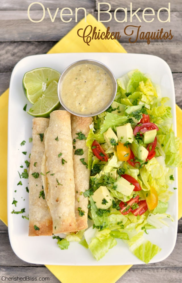 Oven-Baked-Chicken-Taquitos