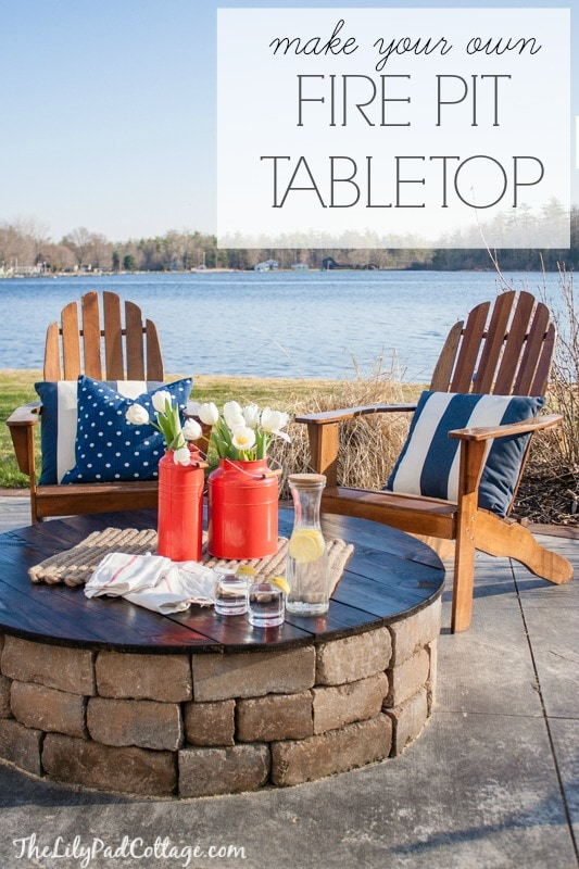 Awesome DIY Fire Pit Table Top