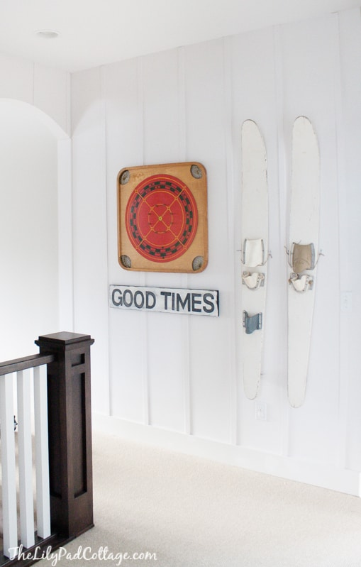 Lake House Decor - decorating with skis
