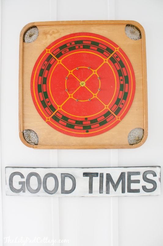 Hand Painted Good Times sign