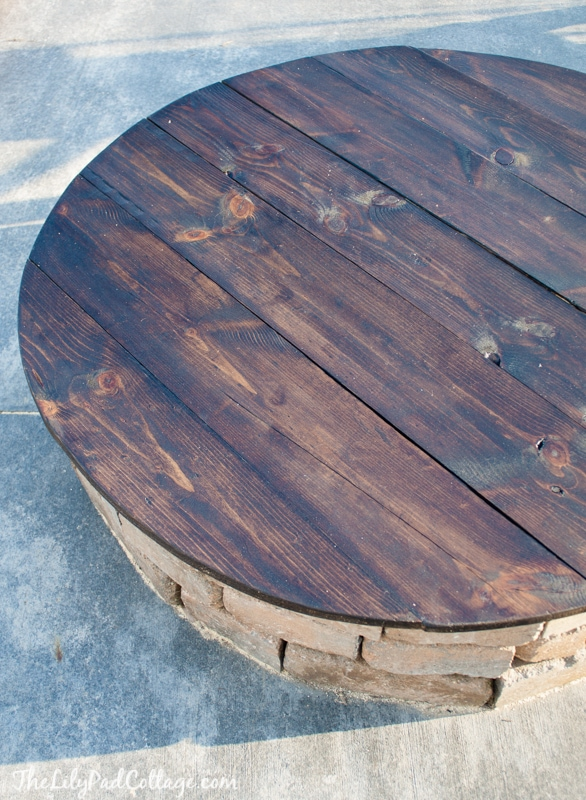 Fire Pit Table Top - DIY Fire Pit Table Top - The Lilypad Cottage