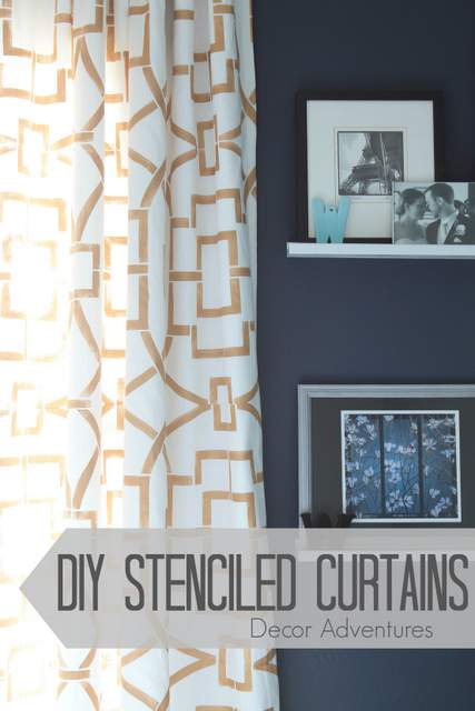 DIY-Stenciled-Curtains