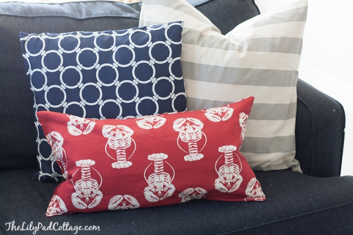 Nautical Playroom pillows