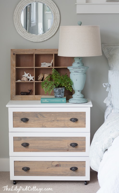 Ikea Tarva Hack - DIY coastal night stands