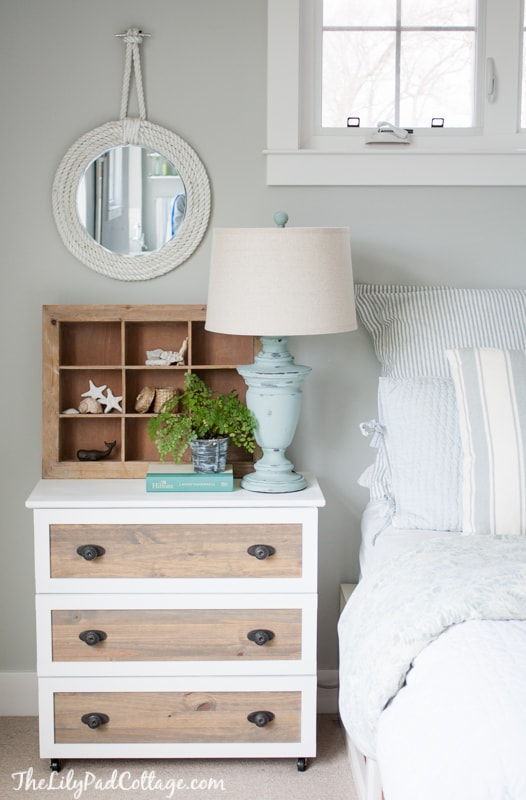IKEA Hack - Tarva Dresser into coastal night stands