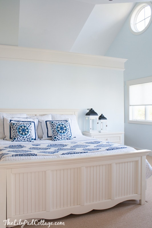 Light blue master bedroom