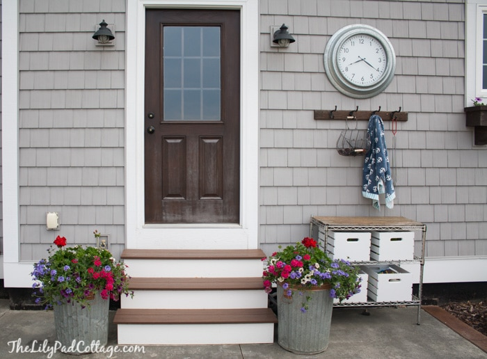 Potting Bench and Trash Can Planters