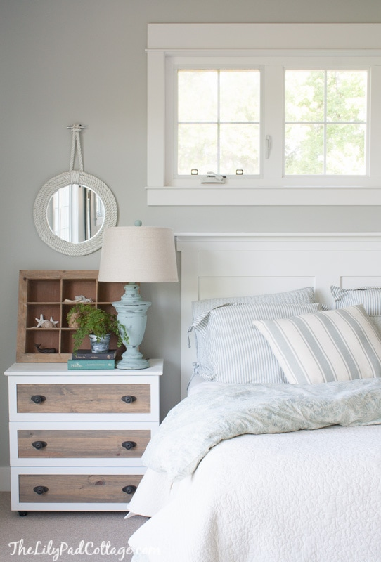 DIY Headboard with moulding