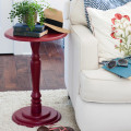 Red Accent Table with OPI Paint