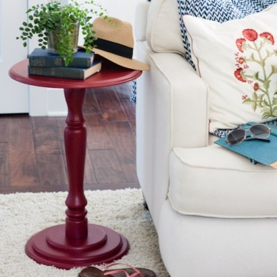 Red Accent Table and a Giveaway!