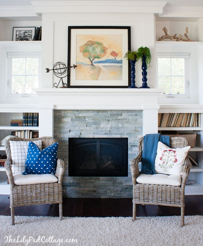 Lake House Living Room Decor: The Lilypad Cottage
