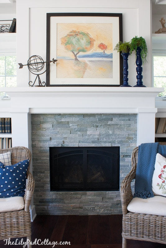 Grey Stone Fireplace