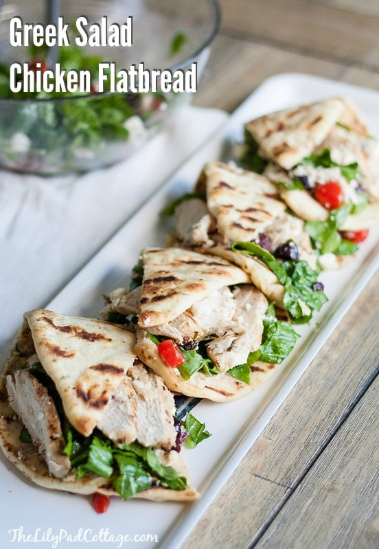 Greek Salad Chicken Flatbread