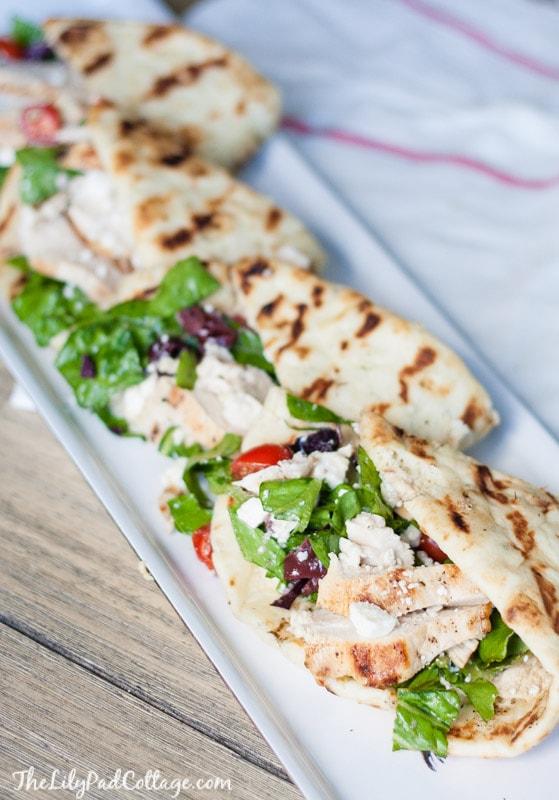 Greek Salad Chicken Flatbread