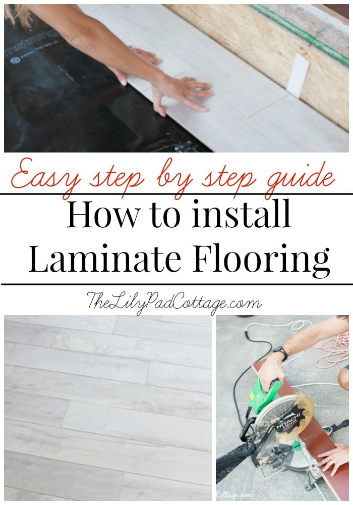 How To Install Laminate Flooring The Lilypad Cottage
