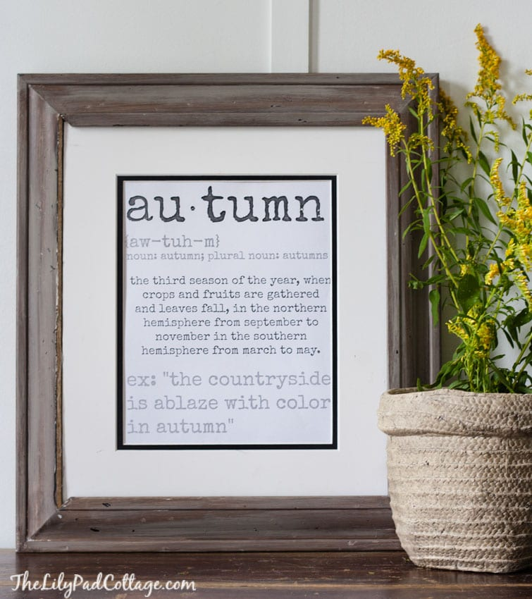 Autumn Printable