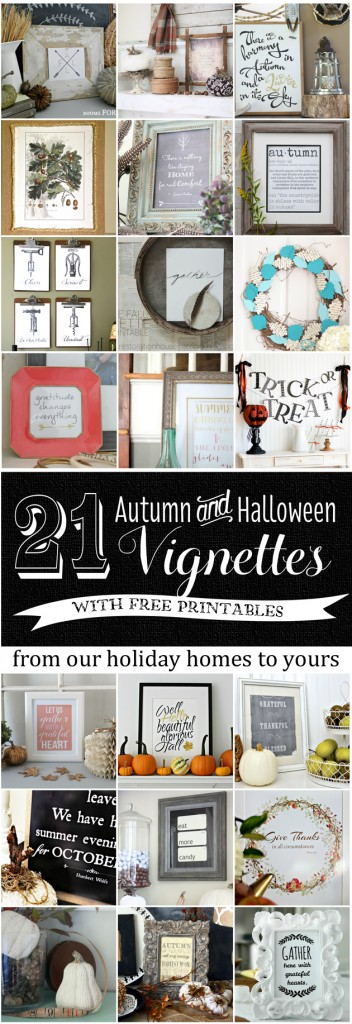 Fall Vignettes and Free Printables
