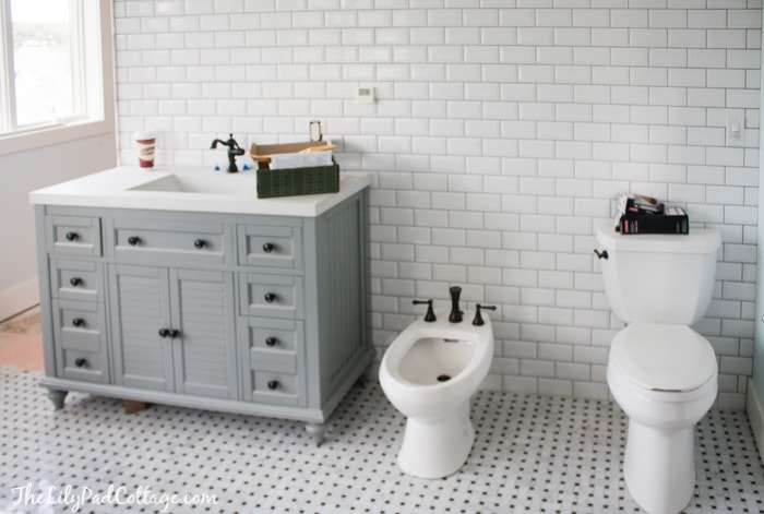 Basketweave Tile Bathroom Floor Thedancingpa Com