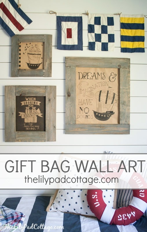 easy gift bag wall art the lilypad cottage