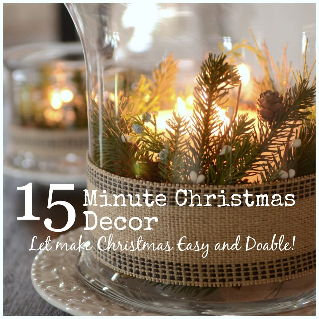 15 MINUTE CHRISTMAS DECOR-let's make Christmas easy and doable- button-stonegableblog
